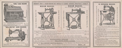 Advert for Bradbury's Sewing Machines, reverse side